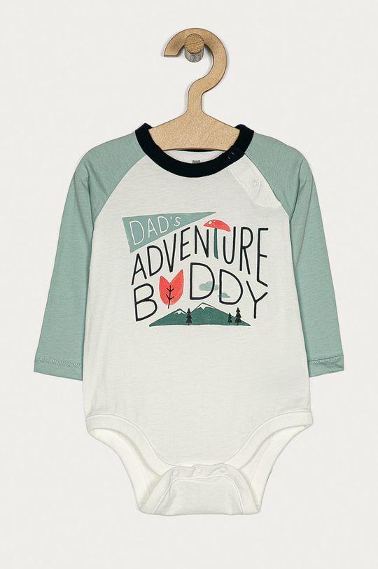 biały GAP - Body niemowlęce 50-80 cm Dziecięcy
