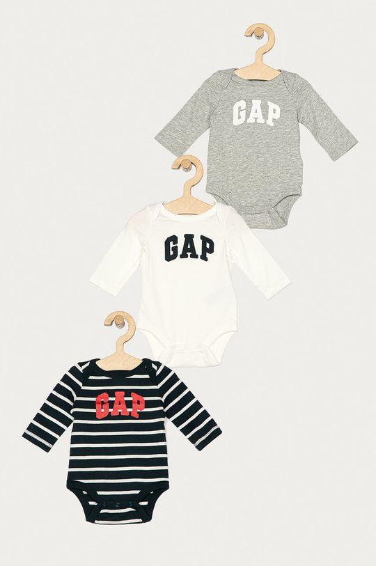alb GAP - Body bebe 50-80 cm (3-pack) De copii