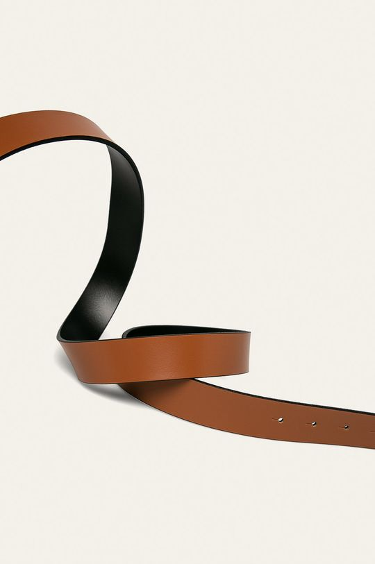 Calvin Klein - Pasek złoty brąz