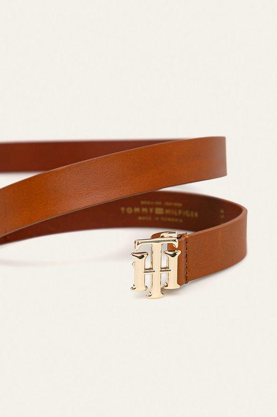 Tommy Hilfiger - Kožený pásek zlatohnědá
