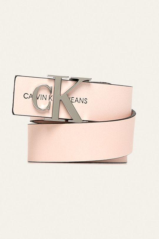 pastelová ružová Calvin Klein Jeans - Kožený opasok Dámsky