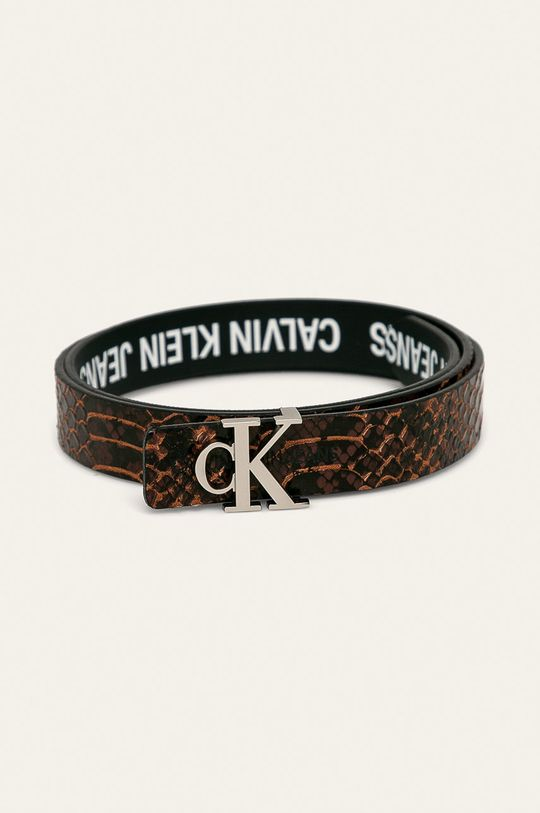 brązowy Calvin Klein Jeans - Pasek dwustronny Damski