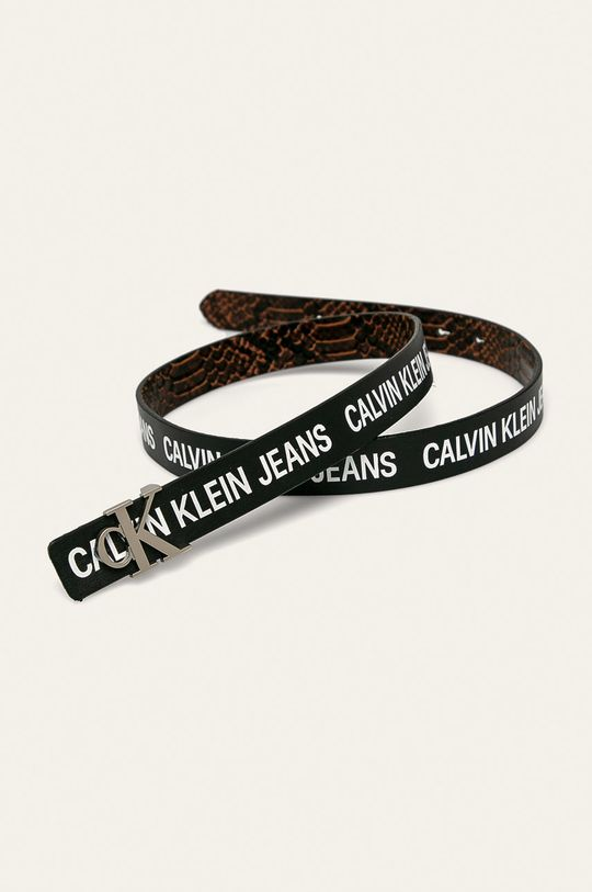 Calvin Klein Jeans - Pasek dwustronny brązowy