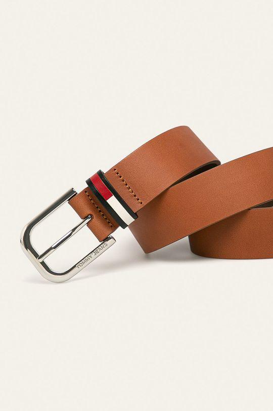 Tommy Jeans - Kožený pásek hnědá