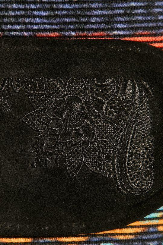 Desigual - Kožený opasok čierna