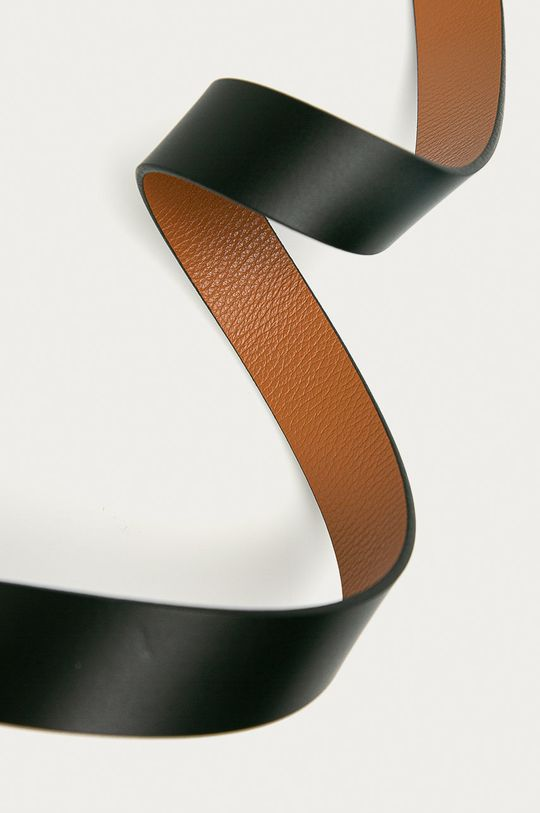 Calvin Klein Jeans - Pasek skórzany dwustronny czarny