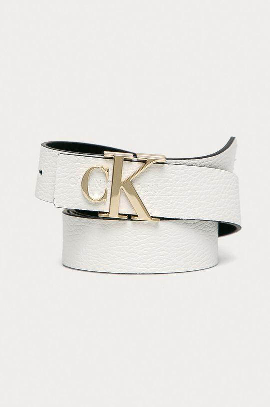 biela Calvin Klein Jeans - Kožený opasok Dámsky
