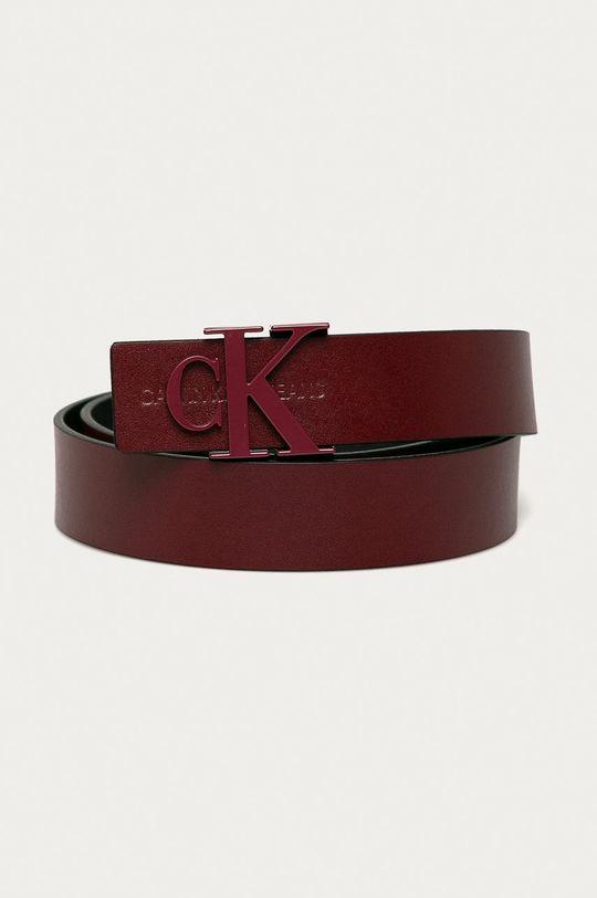 kasztanowy Calvin Klein Jeans - Pasek skórzany Damski