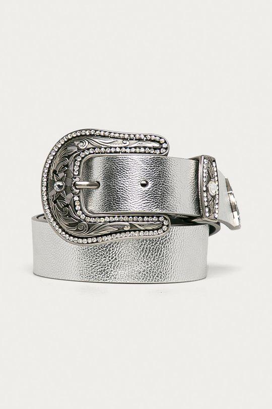 stříbrná Patrizia Pepe - Kožený pásek Dámský