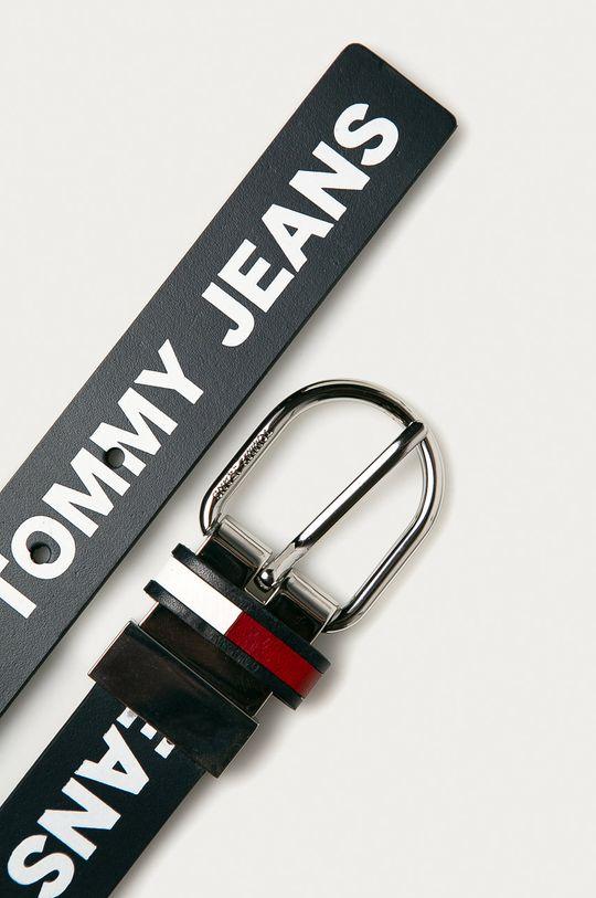 Tommy Jeans - Pasek skórzany dwustronny granatowy