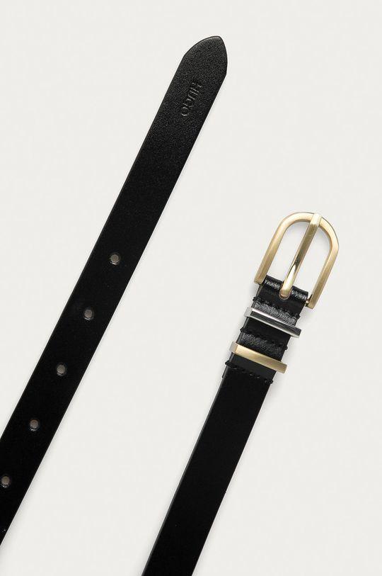 Hugo - Kožený pásek černá