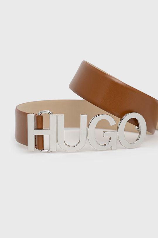 Hugo - Curea de piele maro auriu