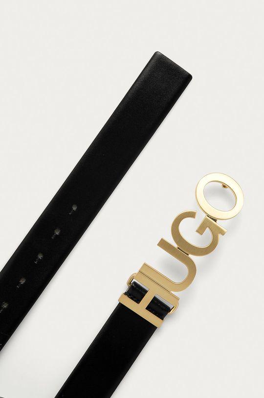 Hugo - Pasek skórzany czarny