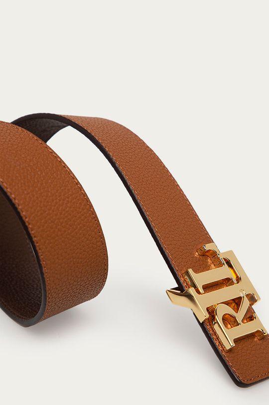 Lauren Ralph Lauren - Kožený pásek hnědá