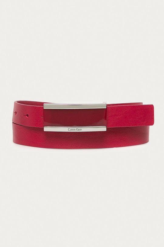 červená Calvin Klein - Kožený opasok Dámsky