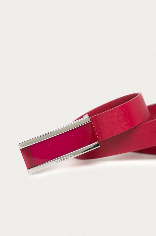 Calvin Klein - Kožený opasok červená
