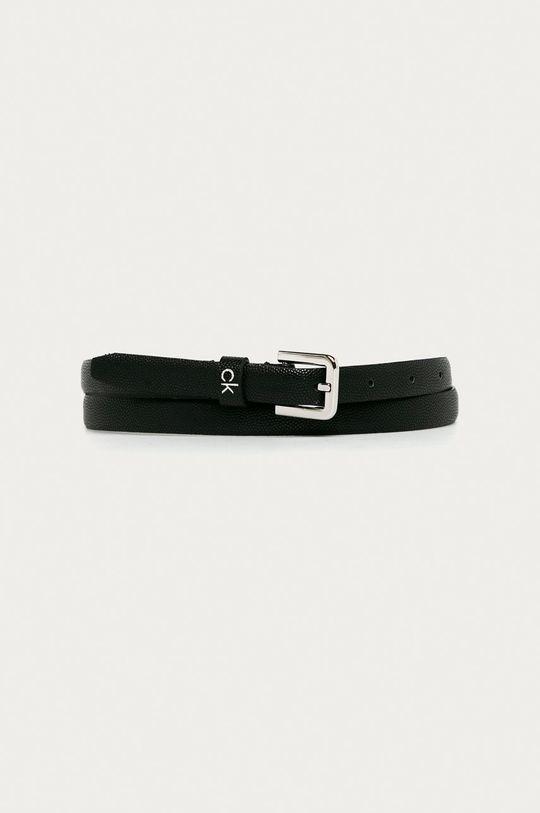 čierna Calvin Klein - Kožený opasok Dámsky
