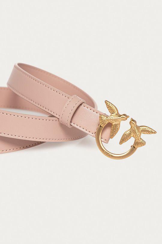 Pinko - Kožený pásek růžová