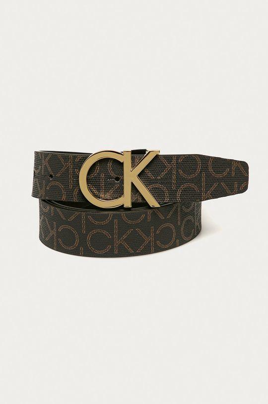 hnedá Calvin Klein - Obojstranný opasok Dámsky