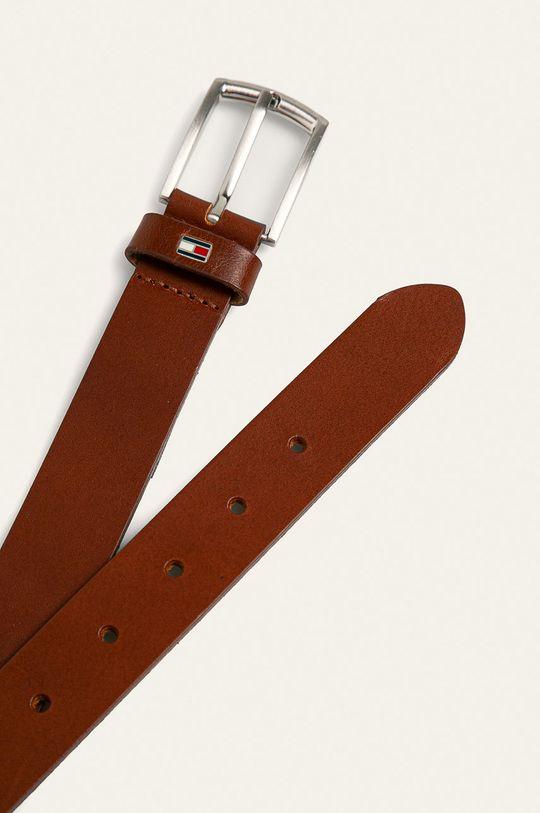 Tommy Hilfiger - Dětský kožený pásek hnědá