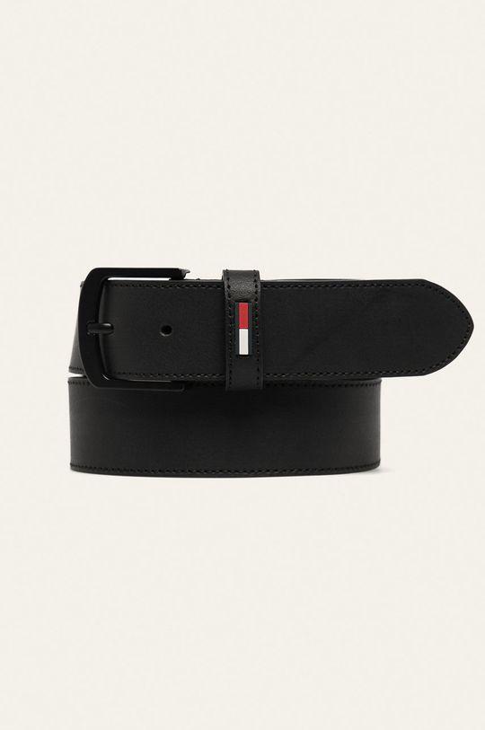 černá Tommy Jeans - Kožený pásek Pánský