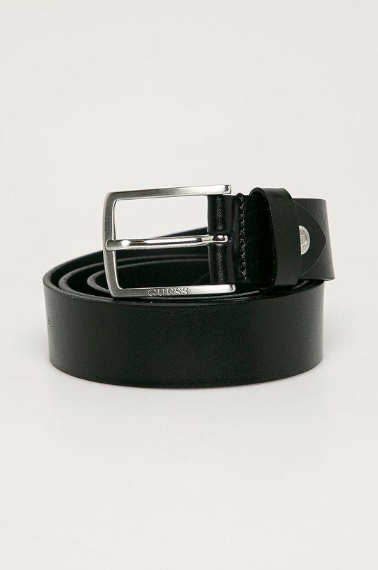 negru Guess Jeans - Curea de piele De bărbați