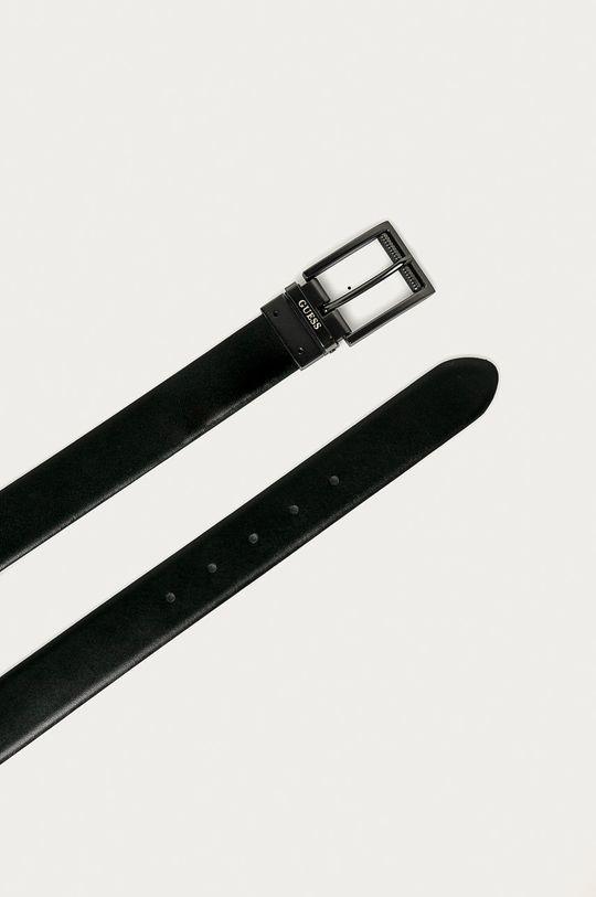 Guess Jeans - Curea de piele negru