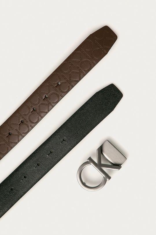Calvin Klein - Obojstranný kožený opasok  100% Prírodná koža