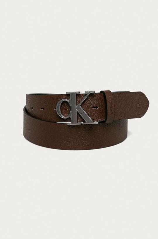 tmavohnedá Calvin Klein Jeans - Kožený opasok Pánsky