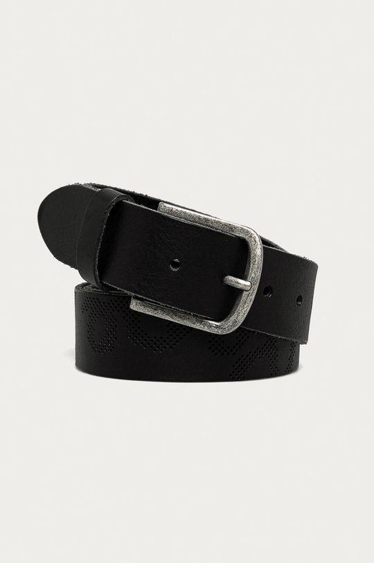 čierna Pepe Jeans - Kožený opasok George Pánsky