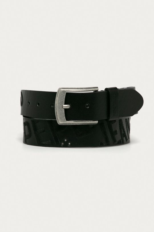 černá Pepe Jeans - Kožený pásek Jato Pánský