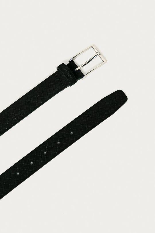 Strellson - Kožený pásek černá