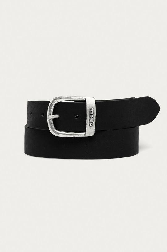 černá Diesel - Kožený pásek Pánský