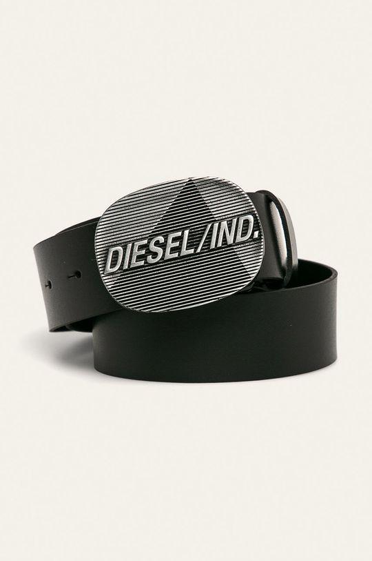 czarny Diesel - Pasek skórzany Męski