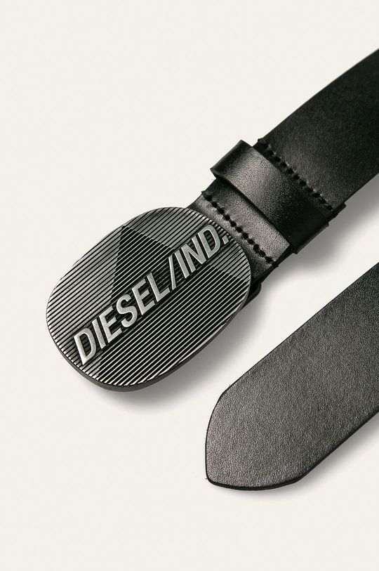 Diesel - Pasek skórzany czarny