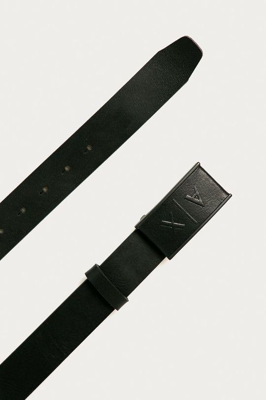 Armani Exchange - Curea de piele negru