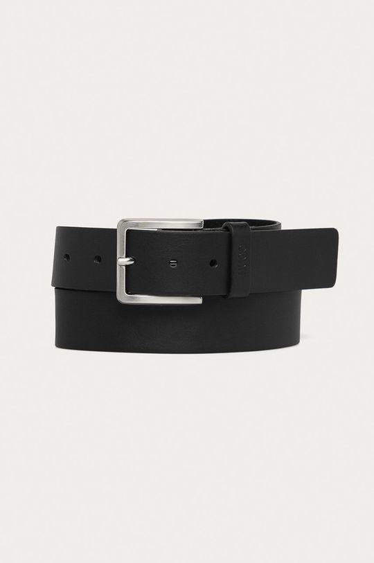 černá Hugo - Kožený pásek Pánský