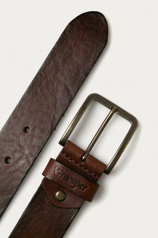 Wrangler - Pasek skórzany brązowy