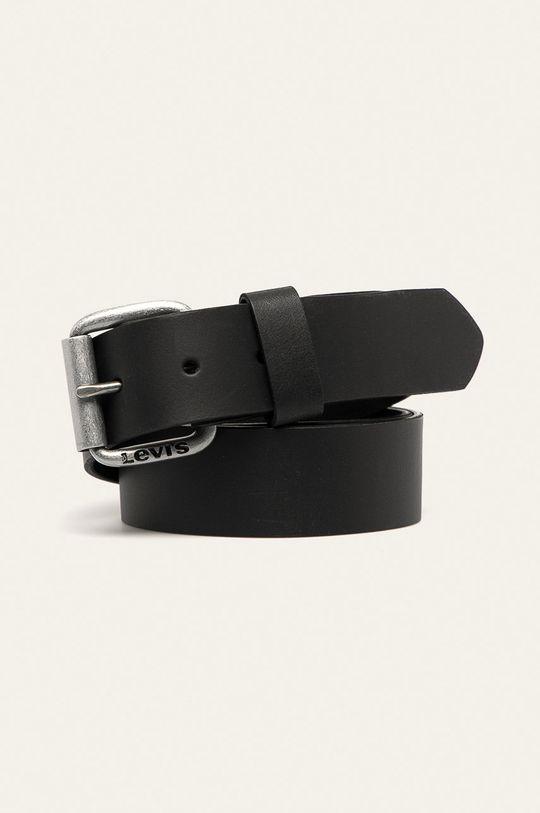 černá Levi's - Kožený pásek Pánský