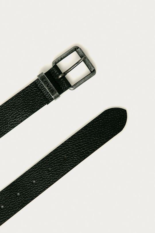 Levi's - Kožený opasok čierna