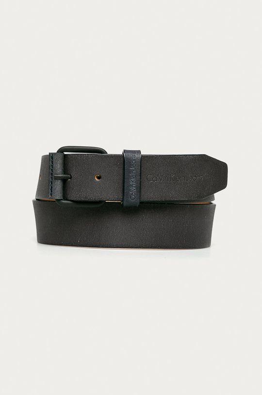 čierna Calvin Klein Jeans - Kožený opasok Pánsky