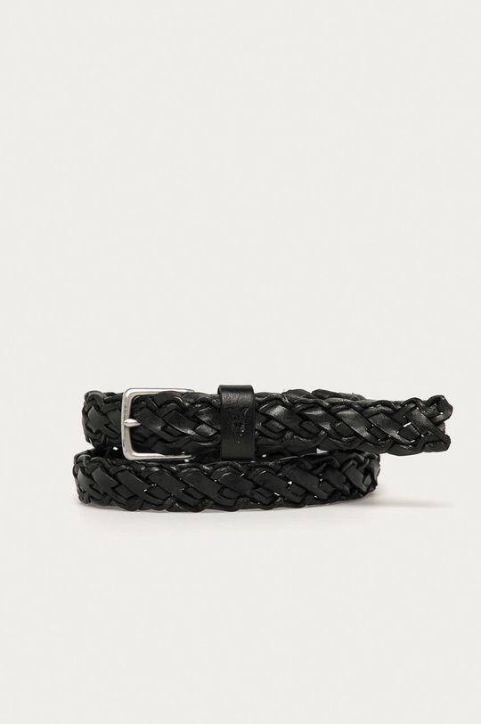 černá AllSaints - Kožený pásek Pánský