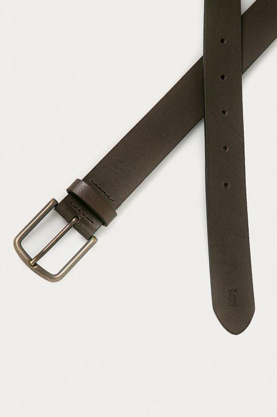Lee - Kožený pásek tmavě hnědá