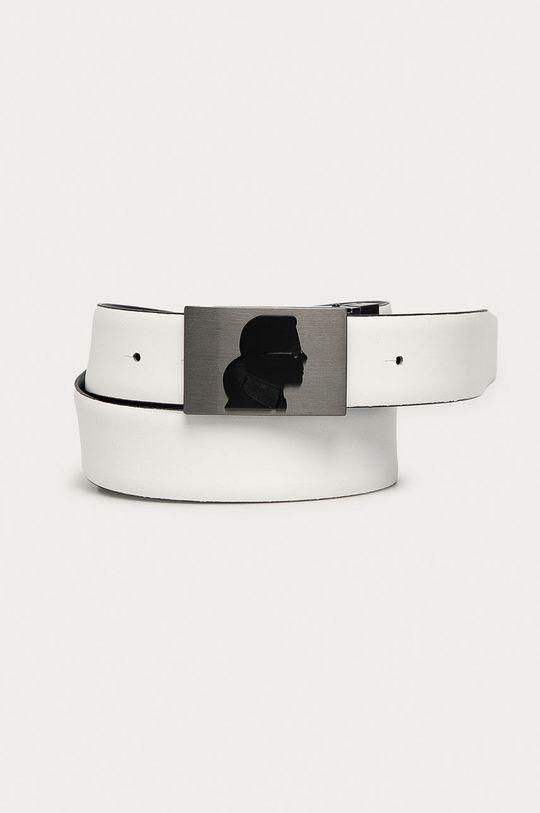 bílá Karl Lagerfeld - Oboustranný kožený pásek Pánský