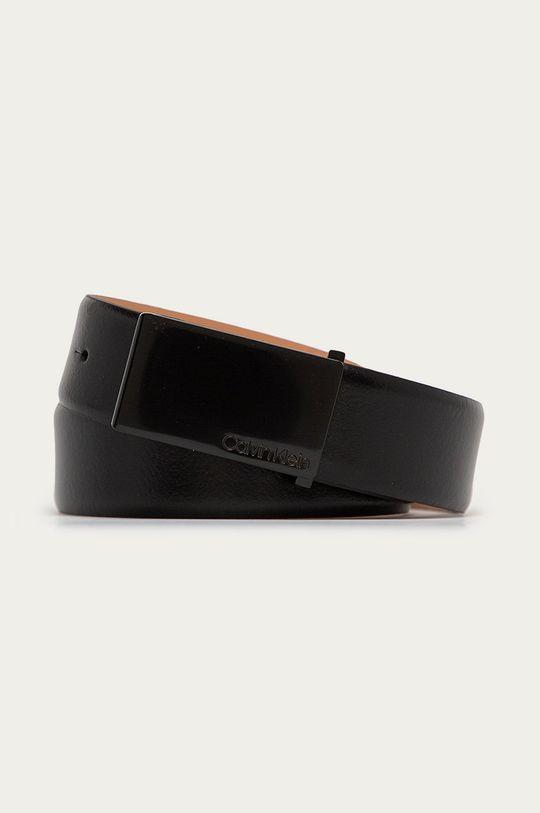 czarny Calvin Klein - Pasek skórzany Męski