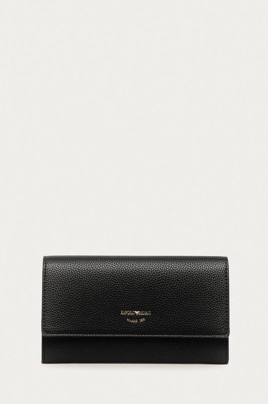 negru Emporio Armani - Portofel de piele De femei