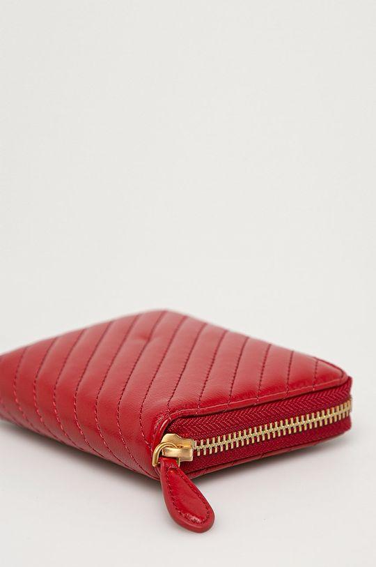 Pinko - Bőr pénztárca gesztenyebarna