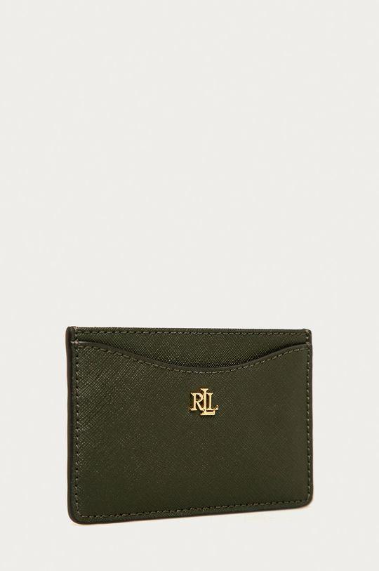 Lauren Ralph Lauren - Kožená peňaženka olivová