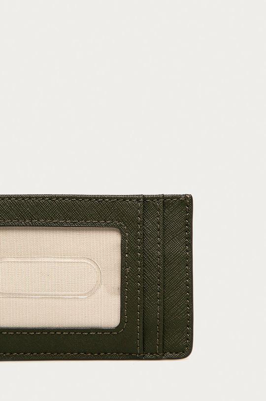 olivová Lauren Ralph Lauren - Kožená peňaženka