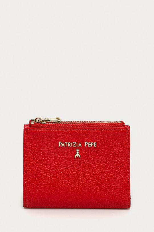červená Patrizia Pepe - Kožená peňaženka Dámsky